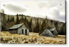 Township Remnants Acrylic Print by Richard Bean
