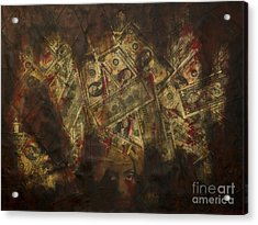 Toxic Greed Acrylic Print by Kamil Swiatek