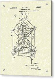 Toy Blocks 1933 Patent Art Acrylic Print by Prior Art Design