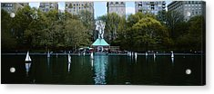 Toy Boats Floating On Water, Central Acrylic Print by Panoramic Images