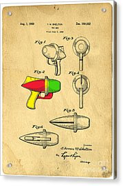 Toy Ray Gun Patent II Acrylic Print by Edward Fielding