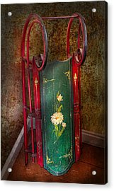 Toy - Sled - Fun Memories With My Sled  Acrylic Print by Mike Savad