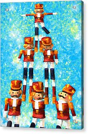 Toy Soldiers Make A Tree Acrylic Print by Bob Orsillo