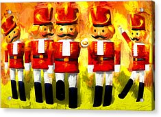 Toy Soldiers Nutcracker Acrylic Print by Bob Orsillo