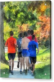 Track Practice Acrylic Print by Susan Savad