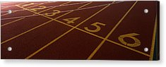 Track, Starting Line Acrylic Print by Panoramic Images