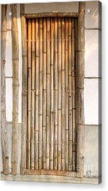 Traditional Chinese House With Bamboo Door Acrylic Print by Yali Shi