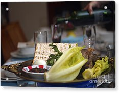 Traditional Sedder Table Acrylic Print by Ilan Rosen