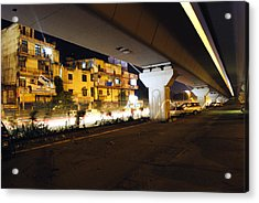 Traffic Running Beneath Flyover Acrylic Print by Sumit Mehndiratta