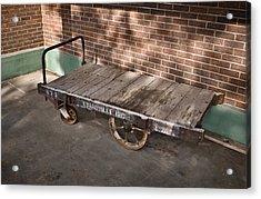Train Depot Baggage Cart 4tda Acrylic Print by Greg Jackson