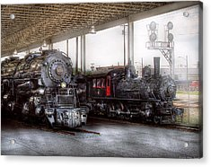 Train - Engine - 1218 - End Of The Line  Acrylic Print by Mike Savad