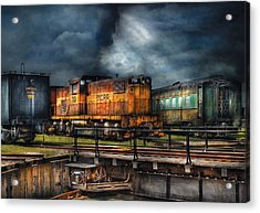 Train - Let's Go For A Spin Acrylic Print by Mike Savad