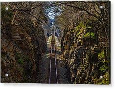 Train Tracks Photo Acrylic Print by Rick McKee