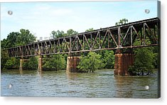 Train Trestle Acrylic Print by Greg Simmons