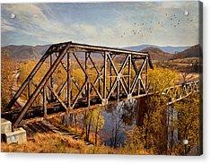 Train Trestle Acrylic Print by Kathy Jennings