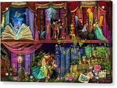 Fairytake Treasure Hunt Book Shelf Variant 4 Acrylic Print by Aimee Stewart