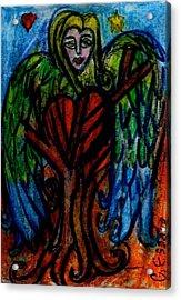Tree Angel Acrylic Print by Genevieve Esson