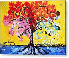Tree Of Life Acrylic Print by Ramona Matei