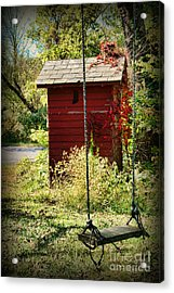 Tree Swing By The Outhouse Acrylic Print by Paul Ward