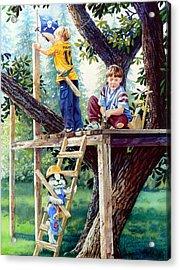 Treehouse Magic Acrylic Print by Hanne Lore Koehler