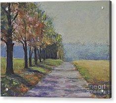 Treelined Road Acrylic Print by Joyce A Guariglia
