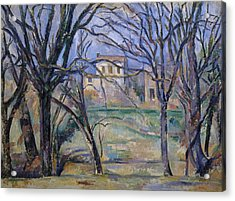Trees And Houses, 1885-86 Acrylic Print by Paul Cezanne