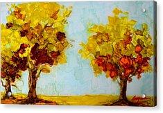 Trees In The Fall Acrylic Print by Patricia Awapara