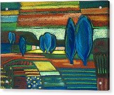 Trees Of Blue Acrylic Print by Gergana Valkova