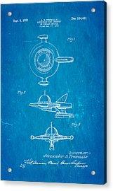 Tremulis Spaceship Hood Ornament Patent Art 1951 Blueprint Acrylic Print by Ian Monk