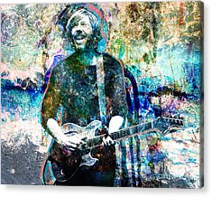 Trey Anastasio - Phish Original Painting Print Acrylic Print by Ryan Rock Artist