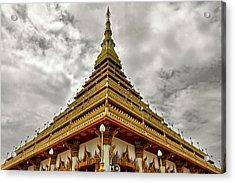 Triangle Pagoda Acrylic Print by Suradej Chuephanich