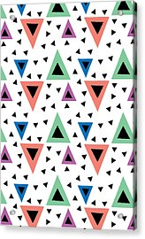 Triangular Dance Repeat Print Acrylic Print by Susan Claire