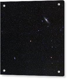 Triangulum And Andromeda Galaxies Acrylic Print by Eckhard Slawik