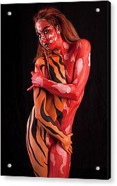 Tribal Beauty Acrylic Print by David April