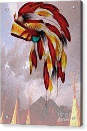 Tribal Acrylic Print by Cheryl Young