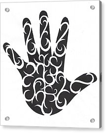 Tribal Hand Acrylic Print by Jennifer Kimberly