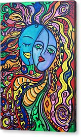 Tribal Love Acrylic Print by Lorinda Fore and Tony Lima