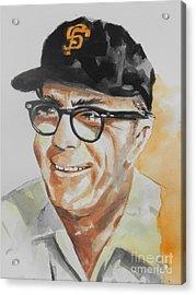Tribute To Edward Logan My Grandfather  Acrylic Print by Chrisann Ellis