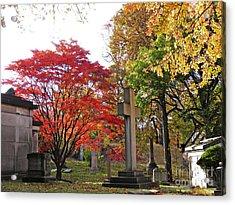 Trinity Cemetery Acrylic Print by Sarah Loft