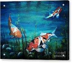 Trio Acrylic Print by Laneea Tolley