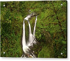 Triple Falls  Acrylic Print by Jeff Swan