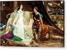 Tristan And Isolde Acrylic Print by Celestial Images