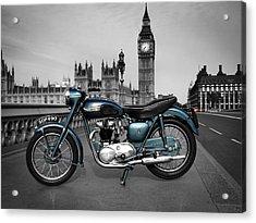 Triumph Thunderbird 1955 Acrylic Print by Mark Rogan