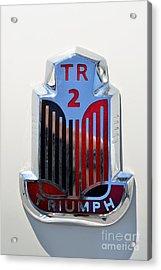 1954 Triumph Tr2 Badge Acrylic Print by George Atsametakis