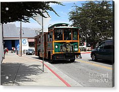 Trolley At The Monterey Bay Aquarium On Monterey Cannery Row California 5d25105 Acrylic Print by Wingsdomain Art and Photography