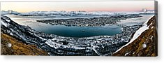 Tromso From The Mountains Acrylic Print by Dave Bowman