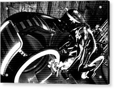 Tron Motor Cycle Acrylic Print by Michael Hope