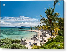 Tropical Beach II. Mauritius Acrylic Print by Jenny Rainbow