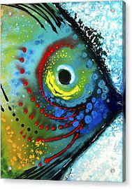 Tropical Fish - Art By Sharon Cummings Acrylic Print by Sharon Cummings