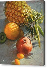 Tropical Fruit Acrylic Print by Mia Tavonatti